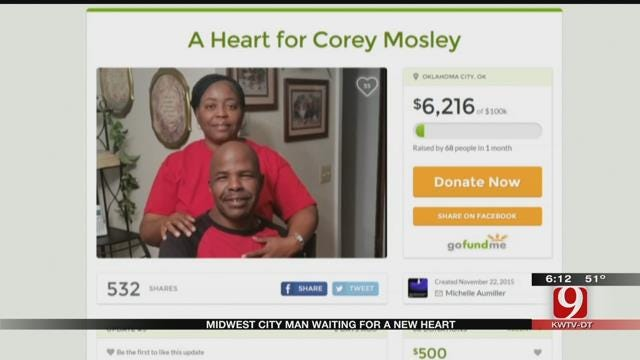 Midwest City Workers Raise Money From Man Who Needs Heart Transplant
