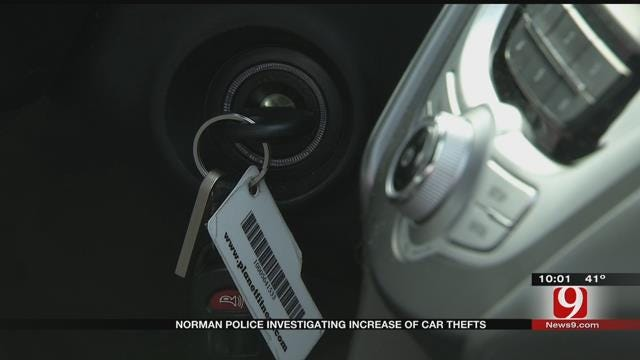 Norman Police Investigating Increase Of Car Thefts