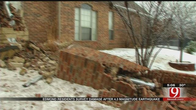 Edmond Residents Dealing With Damage After 4.3 Earthquake
