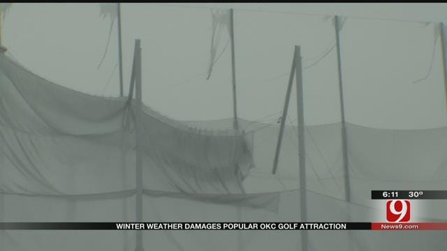 Winter Weather Damages Popular OKC Golf Attraction
