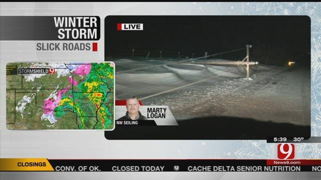 News 9 Storm Trackers Cover Oklahoma Winter Storm