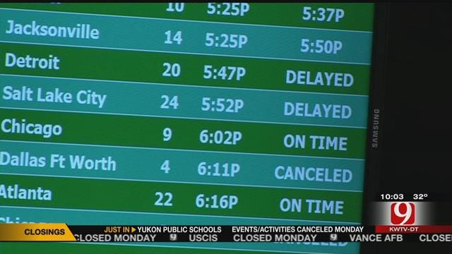 Weather Causes Delays, Cancellations at Will Rogers World Airport