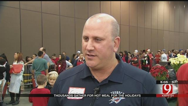 Hunger During The Holidays: Thousands Gather For Hot Meal In OKC