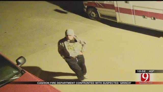 CAUGHT ON CAMERA: Suspect Steals From Cashion FD