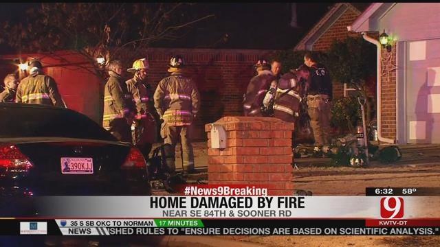 Three Escape Burning Home In SE OKC