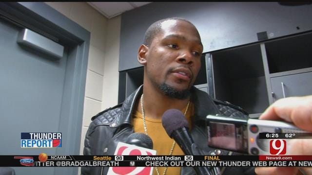 Durant Comes Through In Clutch For Thunder