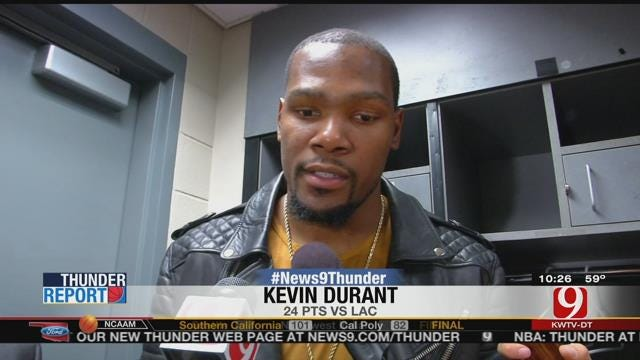 KD Shines As Thunder Top Clips