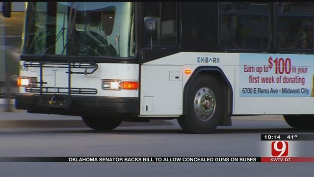 State Senator Backs Bill To Allow Concealed Guns On Buses