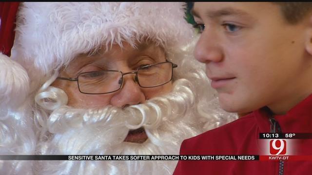 Sensory Santa Event Held In OKC For Special Needs Children