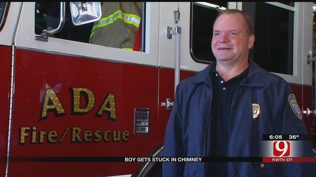 Firefighters Rescue Ada Teen Stuck In Chimney
