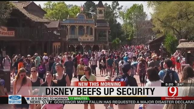 Theme Parks, Including Disney, Step Up Security