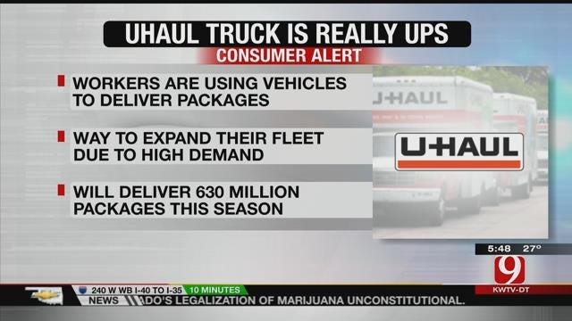 UPS Drivers Using U-Haul Trucks To Deliver Packages
