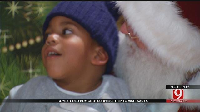 OKC Boy Gets Special Adventure To The North Pole