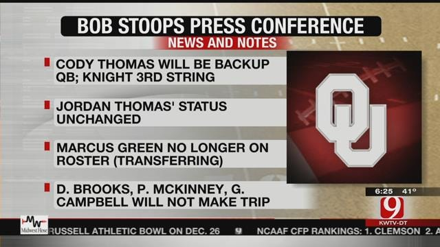 Bob Stoops Meets With Media