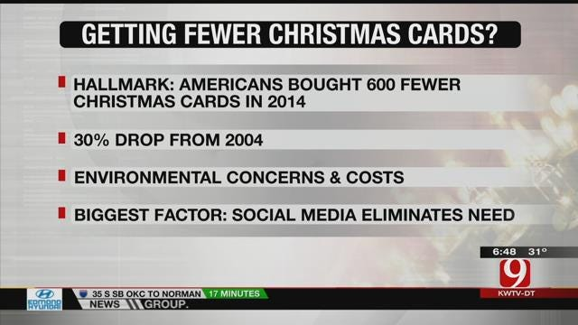 Fewer People Send Holiday Cards
