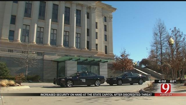 Authorities Beef Up Security At OK State Capitol Following Threat
