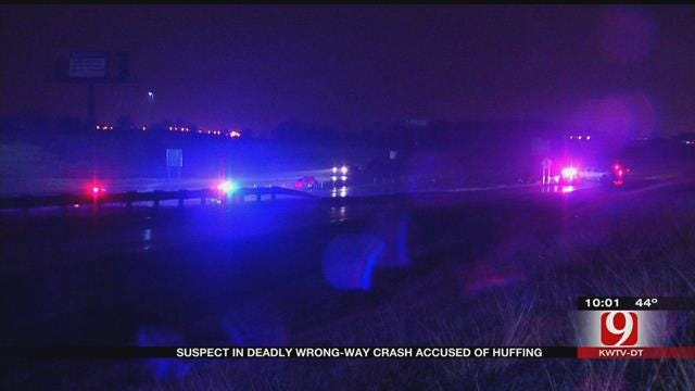 Suspect In Deadly Wrong-Way Crash Accused Of 'Huffing'