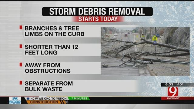 OKC Begins Ice Storm Debris Collection On Monday