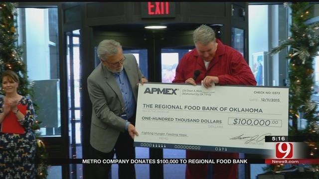 Metro Company Donates $100K To Regional Food Bank