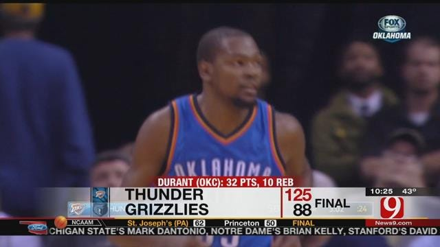 Thunder Maul Grizzlies In Memphis