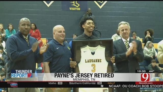 Thunder Watches Cam Payne Get High School Jersey Retired