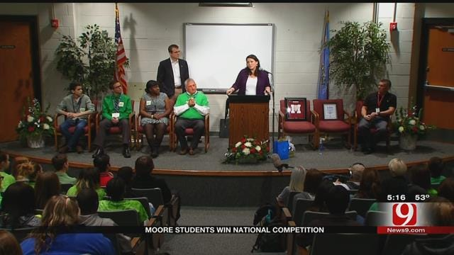 Moore HS Students Win National Competition With 'Say Something' Video