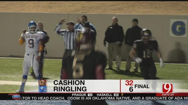 Cashion Beats Ringling 32-6