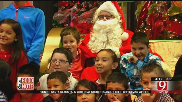 Signing Santa Brings Christmas Joy To OKC Deaf, Hard-Of-Hearing Kids