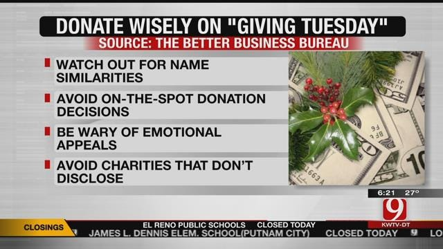 Giving Tuesday: BBB Offers Tips On Donating To The Right Group