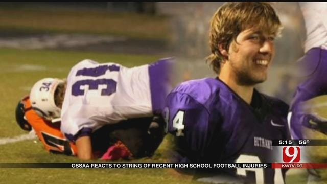 OSSAA Reacts To String Of Recent High School Football Injuries