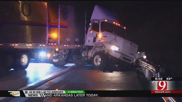 OHP: Driver May Have Fallen Asleep When Semi Jack-Knifed On Turner Turnpike