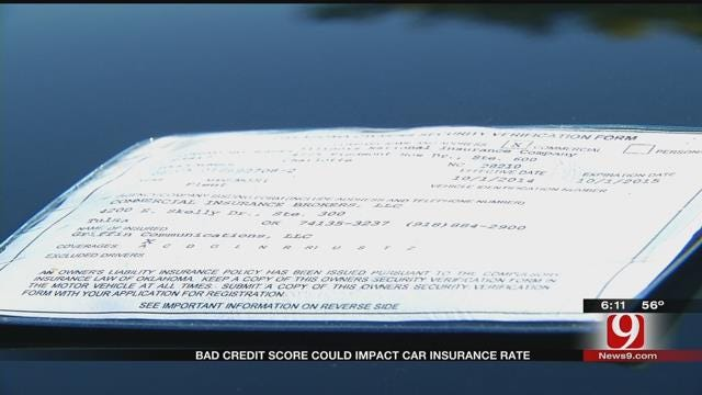 Bad Credit Score Could Impact Car Insurance Rates