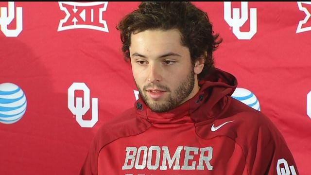 Baker Mayfield At OU Press Conference