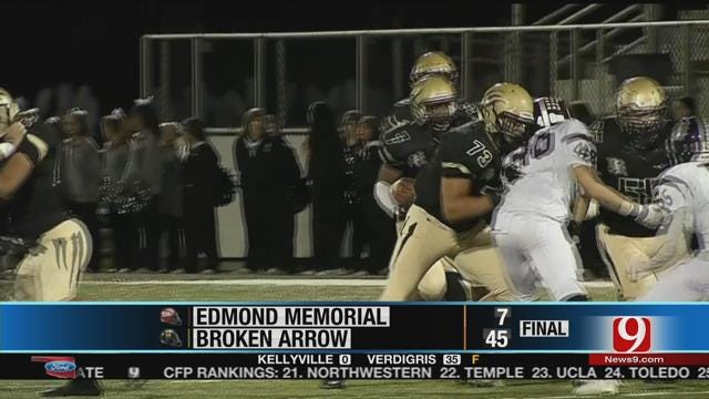 Broken Arrow Smashes Edmond Memorial