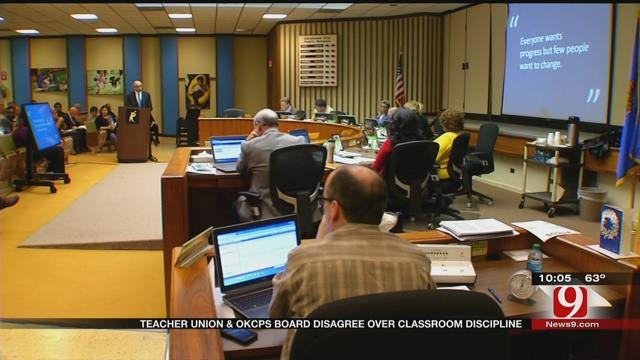 Teacher Union And OKCPS Board Disagree Over Classroom Discipline