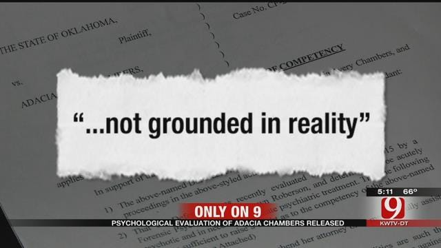 Psychological Evaluation Of Adacia Chambers Released
