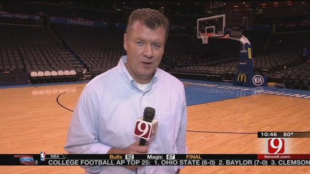 Steve McGehee Reports From Chesapeake Energy Arena