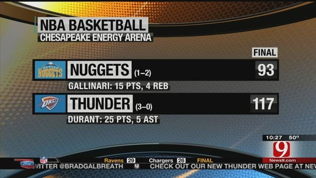 Thunder Beat Nuggets On Sunset Sunday