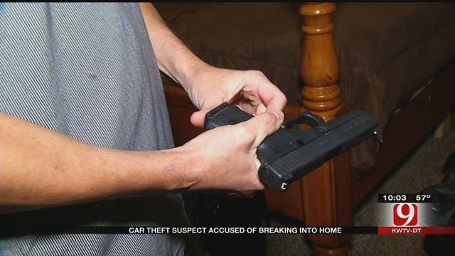 OKC Homeowner Comes Face To Face With Burglary Suspect On The Run