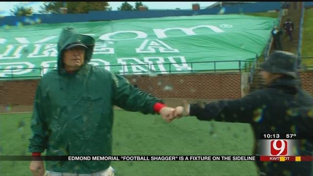 Edmond Memorial 'Football Shagger' Is A Fixer On The Sideline