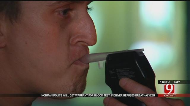 Norman PD: Warrants Will Be Issued For Refusing Breathalyzer During Checkpoint