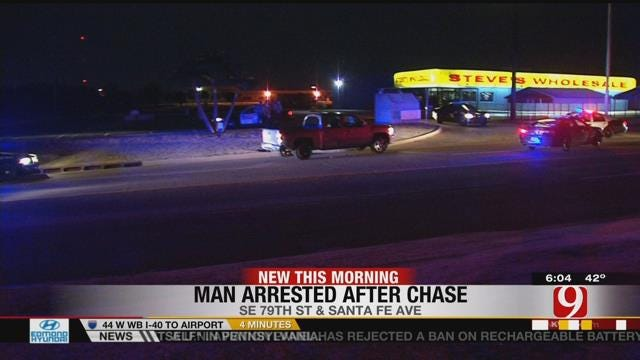 Man Arrested After Leading OKC Police On High-Speed Chase
