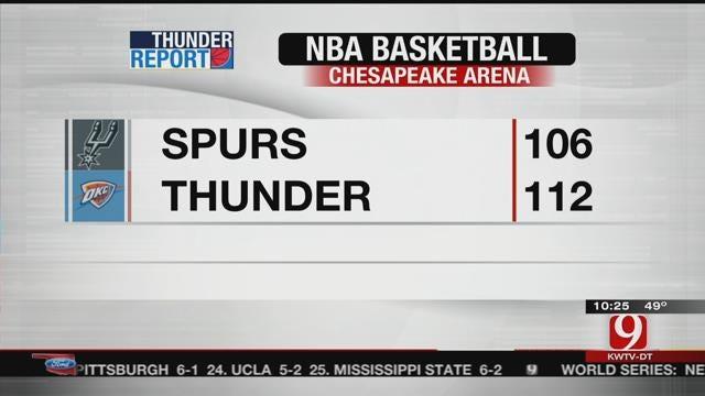 Thunder Beat Spurs 112-106