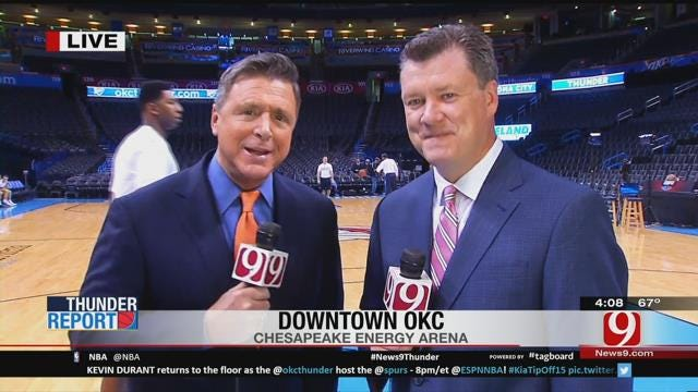 Steve and Dean Check In Before The Matchup With Spurs
