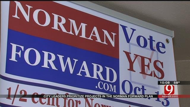 City Leaders Prioritize Projects In Norman Forward Plan