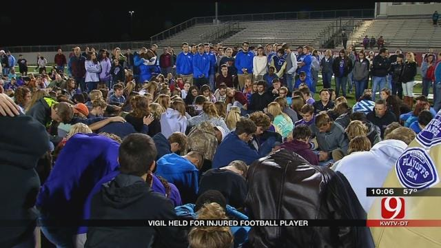 Vigil Held For Bethany Football Player