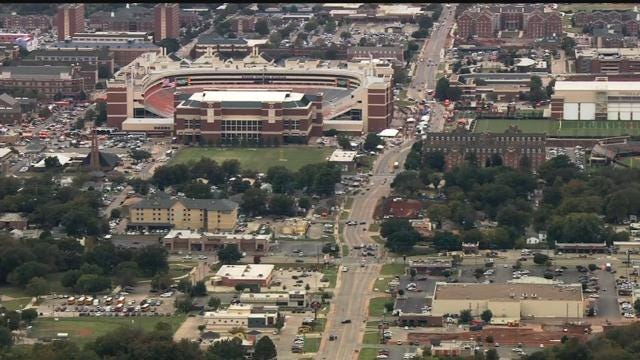 WEB EXTRA: Bob Mills SkyNews 9 HD Flies Over Scene Of OSU Homecoming Parade Crash