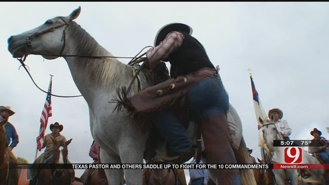 Texas Pastor, Others Saddle Up To Fight For The Ten Commandments