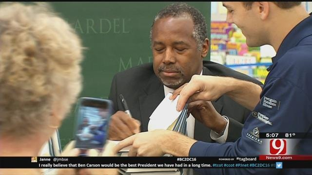 Dr. Ben Carson Signs Copies Of New Book In Edmond