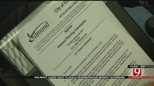 Plans For Walmart Grocery Store In North Edmond Fail